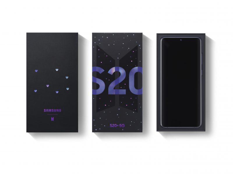 Samsung Galaxy S20+ 5G BTS Editionin myyntipakkaus.