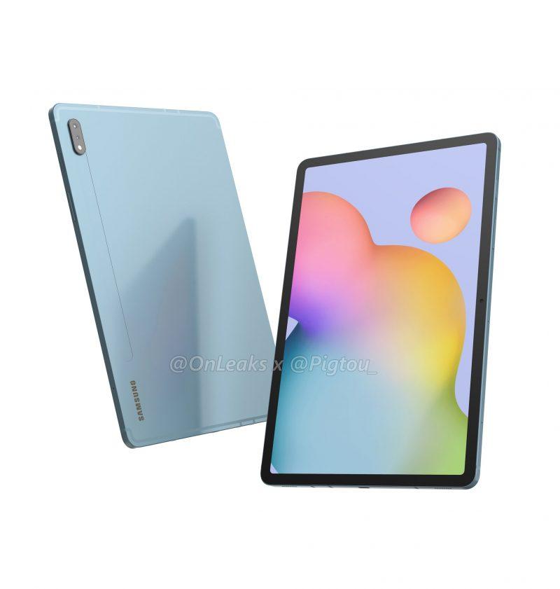 Samsung Galaxy Tab S7:n mallinnettu design. Kuva: OnLeaks / Pigtou.