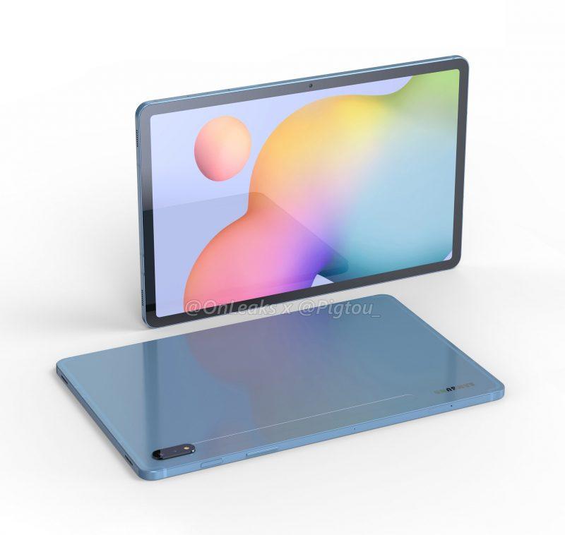 Galaxy Tab S7:n design. Kuva: OnLeaks / Pigtou.
