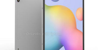 Samsung Galaxy Tab S7+:n design. Kuva: OnLeaks / Pigtou.