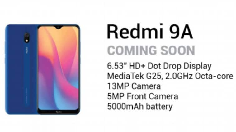 Xiaomi Redmi 9A:n tiedot esitteestä.