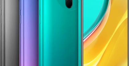 Xiaomin Redmi 9 eri väreissä.