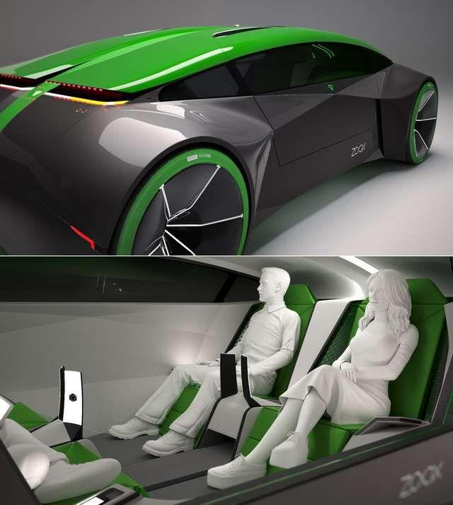 Zooxin konsepti tulevaisuuden itseajavasta autosta.
