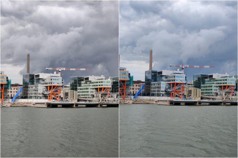 Vasemmalla OnePlus Nord, oikealla OnePlus 8 Pro. 2x-kuvassa erot tarkkuudessa ovat vähäisiä. Värimaailman osalta puhelimet ovat päätyneet erilaiseen näkemykseen.