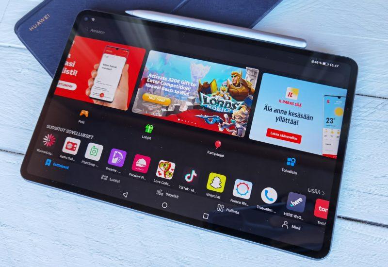 Huawein AppGallery korvaa MatePad Prolla Google Playn.