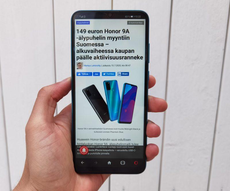 Honor 9A on Suomen ensimmäinen Honor-älypuhelin ilman Google-palveluita.
