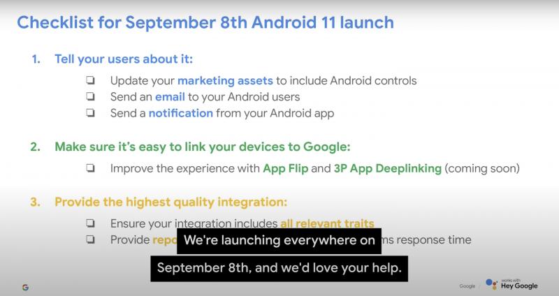Android 11 -julkaisu 8. syyskuuta, kertoo Googlen esitys.