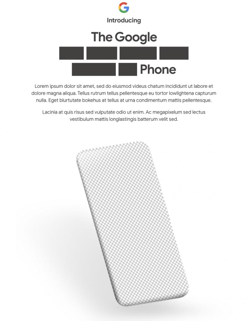 Googlen verkkokaupan ennakko Pixel 4a -julkistuksesta.