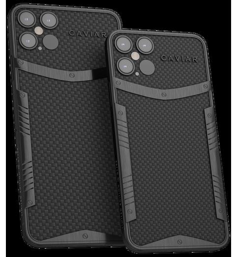 Hiilikuitu-titaanikuoriset Caviarin iPhone 12 -mallit.