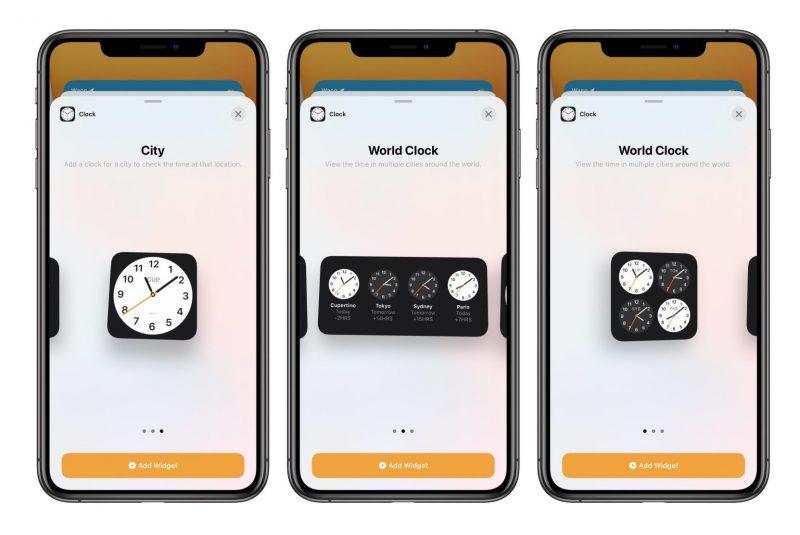iOS 14:n kolmas beeta toi tarjolle Kello-sovelluksen widgetin.