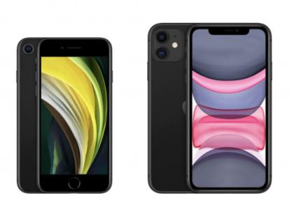 iPhone SE ja iPhone 11.