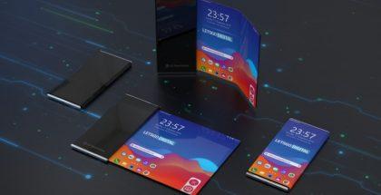 LG:n rullattavan älypuhelimen patentin perusteella luotuja mallinnoksia. Kuva: LetsGoDigital.