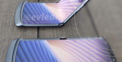 Tuleva 5G-yhteyksiä tukeva taittuvanäyttöinen Motorola razr (koodinimi Odyssey). Kuva: evleaks / Evan Blass.