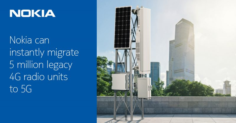 Nokian uusi ratkaisu päivittää 4G-verkkolaitteet 5G-aikaan.
