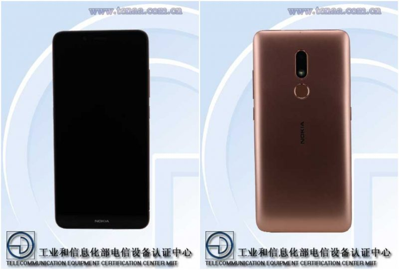 Uusi Nokia-älypuhelinmalli, mallikoodiltaan TA-1258, TENAAn kuvissa.