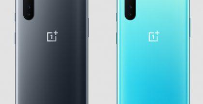 OnePlus Nordin värivaihtoehdot, harmaa Gray Onyx ja sininen Blue Marble.