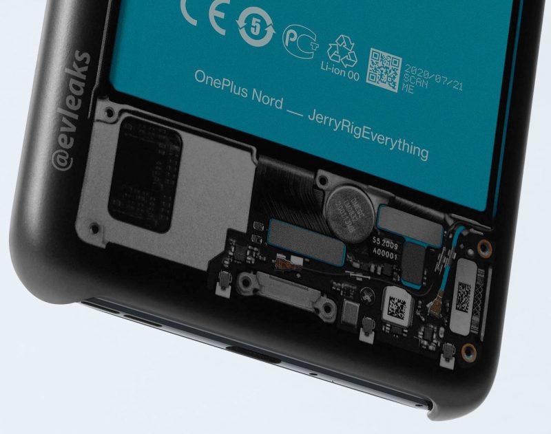 Vilkaisu OnePlus Nordin sisälle. Kuvat: evleaks / Evan Blass.
