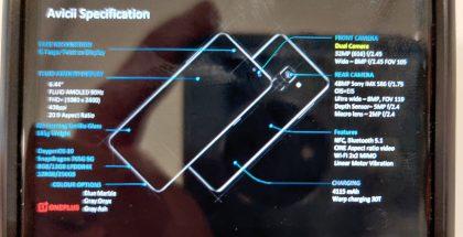 Kuva OnePlus Nordin (koodinimi Avicii) ominaisuuksista OnePlussan pitämästä esityksestä. Kuva: evleaks / Evan Blass.