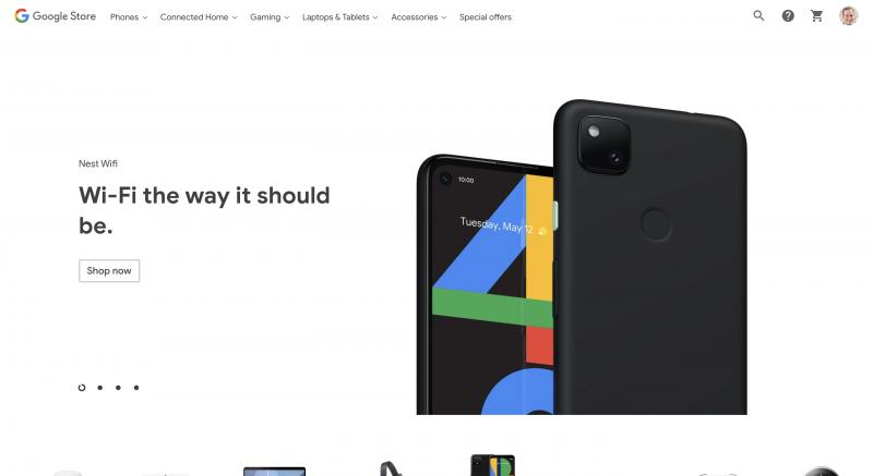 Pixel 4a:n kuva on näkyvillä ainakin Kanadan Google Storessa.