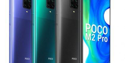 Poco M2 Pro eri väreissä.