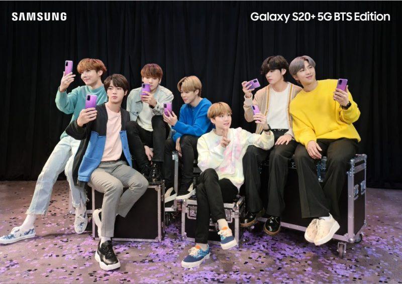 Samsungin violetin väriset erikoistuotteet on toteutettu yhteistyössä BTS:n kanssa.