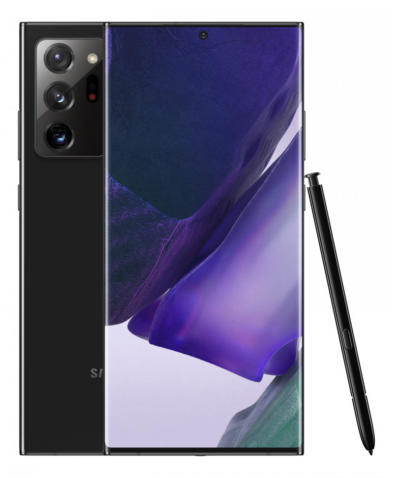Samsung Galaxy Note20 Ultra, Mystic Black.