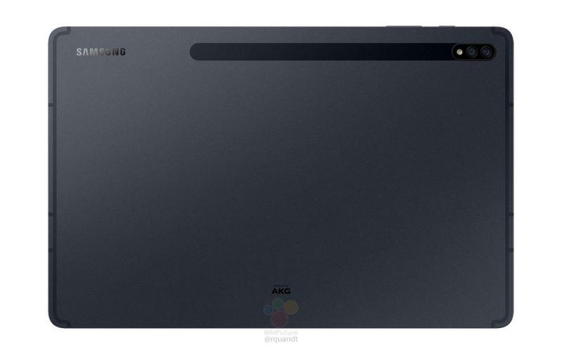Samsung Galaxy Tab S7+ takaa. Kuva: WinFuture.de.