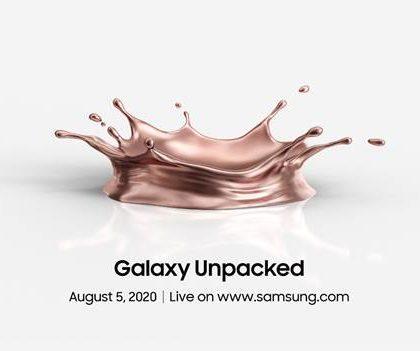 Samsung vahvisti: Seuraava Galaxy Unpacked -julkistustilaisuus 5. elokuuta – odotuksissa ainakin Galaxy Note20 -sarjan huippupuhelimet