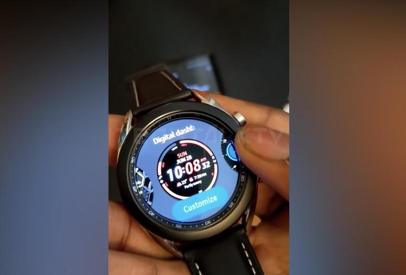 Samsung Galaxy Watch3 esillä jo videolla.