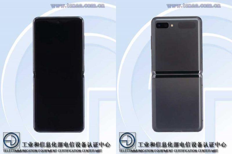 Samsung Galaxy Z Flip 5G, kiinalaisviranomaisen TENAAn kuvissa.