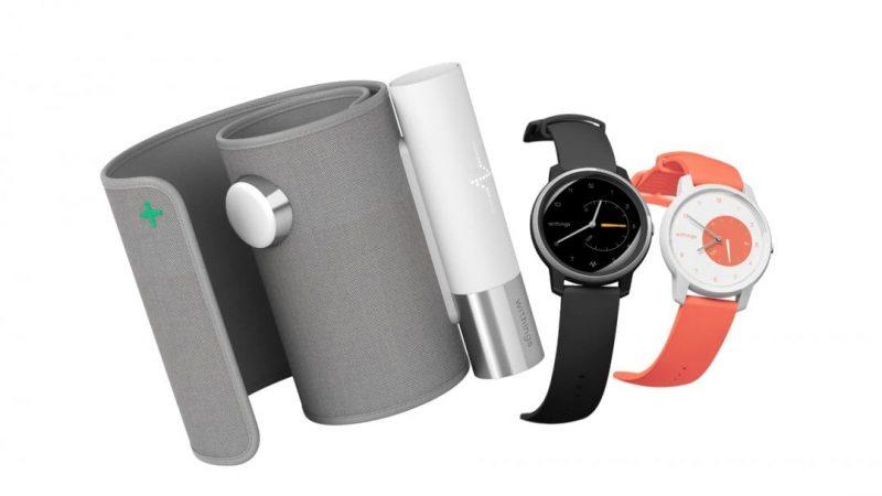 Withingsin laitteita - verenpainemittari ja klassisen näköisiä kelloja, jotka sisältävät aktiivisuuden mittaamiseen tarvittavat anturit.