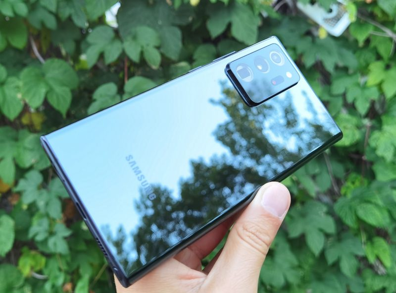 Takaa Galaxy Note20 Ultra on pelkistetty.
