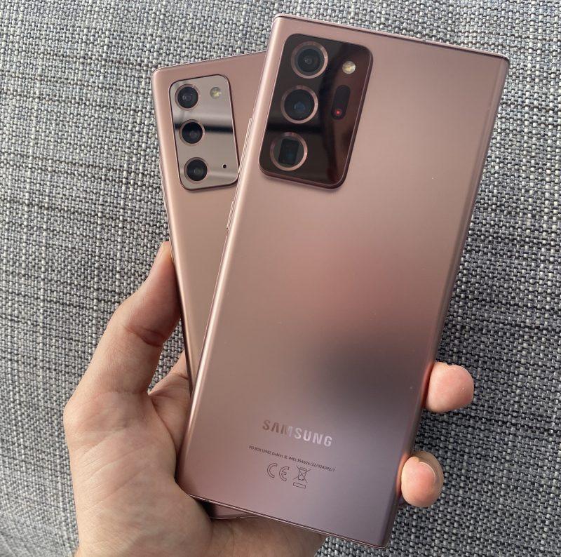 Galaxy Note20 Ultrassa on massiivisempi takakamera-alue.