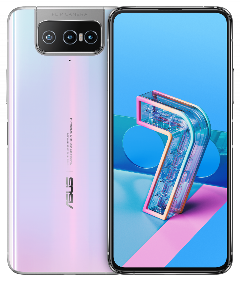 Asus ZenFone 7 / ZenFone 7 Pro, Pastel White.