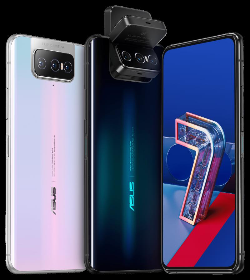 Asus ZenFone 7 -puhelimissa on takaa eteen kääntyvä kameramoduuli.