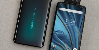 ZenFone 7 -puhelimissa on kääntyvä kolmoiskamera ja 6,67 tuuman AMOLED-näyttö.