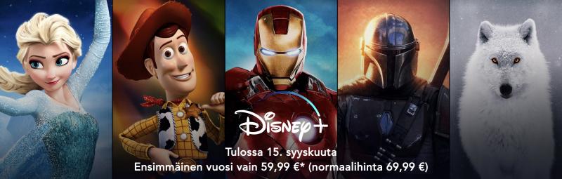 Disney+ on avautunut ennakkomyyntiin Suomessa.