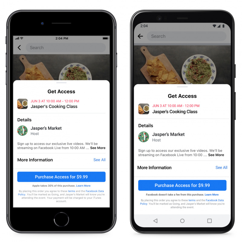 Facebook aikoi kertoa Applen maksuista ottamasta osuudesta.