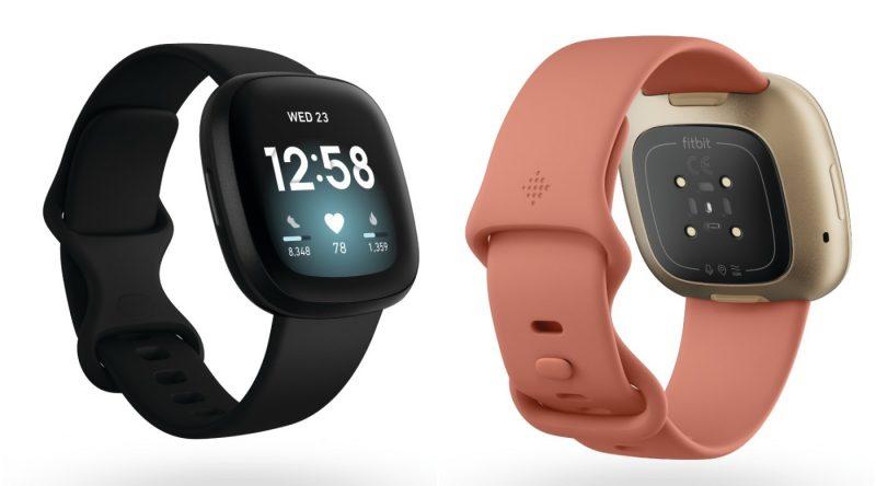 Fitbit Versa 3:n eri värivaihtoehtoja.