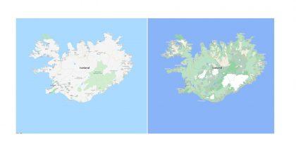 Eri alueiden luonnon ominaispiirteet näkyvät jatkossa paljon selvemmin Googlen kartoissa.