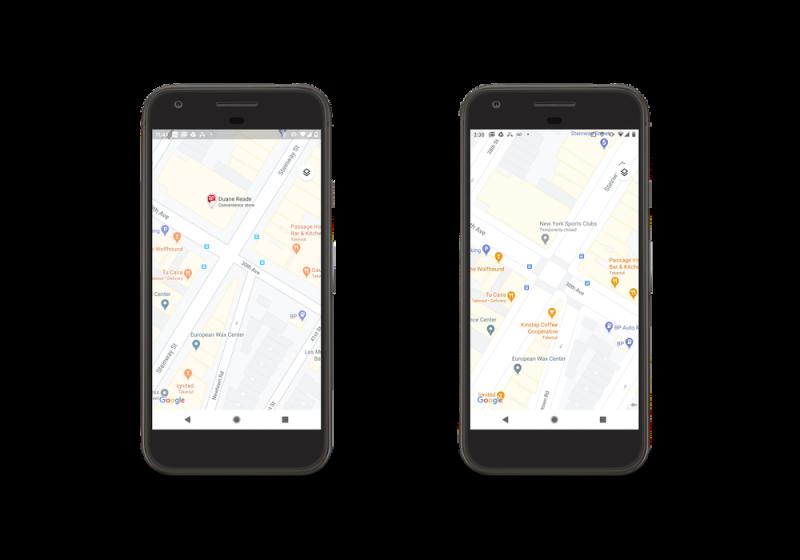 Google Mapsin tarkemmat katukartat laajenevat uusiin kaupunkeihin. Tässä aiempi vertailukuva vanhan ja uuden välillä.