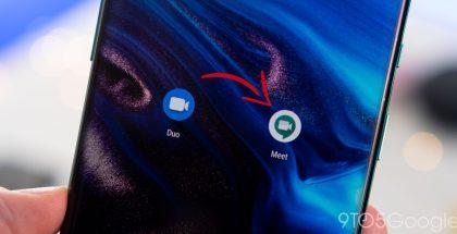 Google Meet on ajan myötä korvaamassa kokonaan Google Duon. Kuva: 9to5Google.