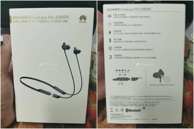 Huawei FreeLace Pro -kuulokkeiden myyntipakkauksesta vuotaneet kuvat.