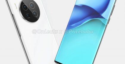 Huawei Mate 40 Pron mallinnos. Kuva: OnLeaks / Pricebaba.