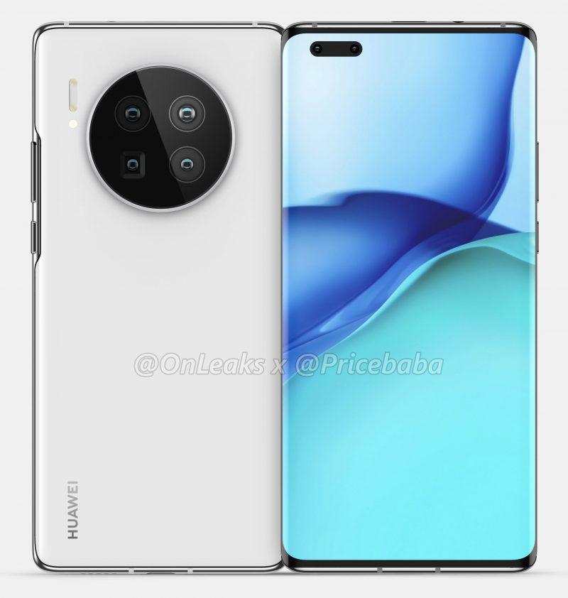 Huawei Mate 40 Pro. Kuva: OnLeaks / Pricebaba.