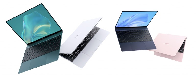 Huawei MateBook X 2020:n neljä eri värivaihtoehtoa.