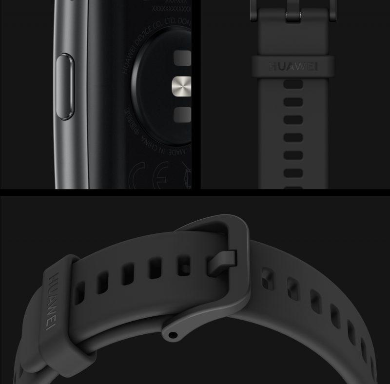 Huawei Watch Fitin yksityiskohtia.