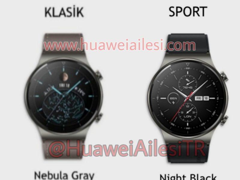 Huawei Watch GT 2 Pron klassinen ja sporttiversio.