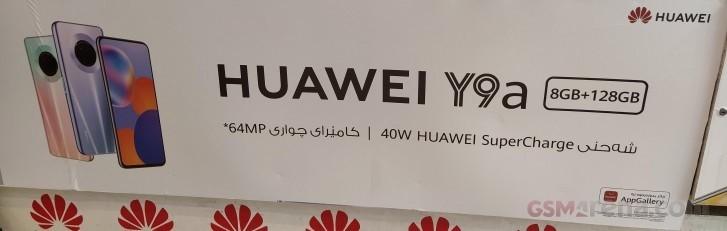Huawei Y9a:n mainos oli jo esillä Irakissa. Kuva: GSMArena.com.