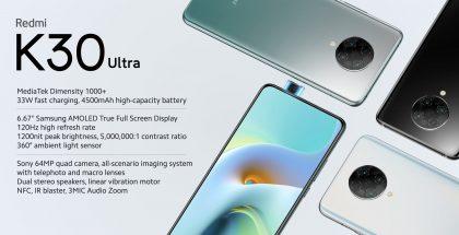 Redmi K30 Ultra on Xiaomin päivän toinen älypuhelinuutuus.